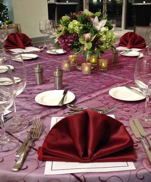 social event table setting